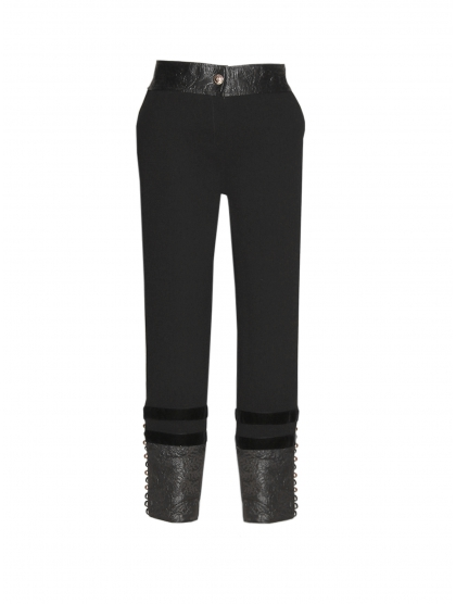 BROCADE CREPE SKINNY TROUSERS