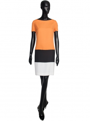 VESTIDO COLOR BLOCK LINO