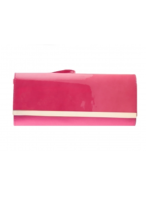 LACQUER AND SATIN BAGUETTE