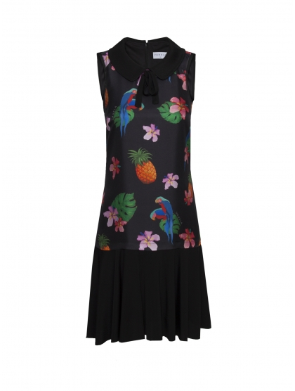 SIXTIES PARROT PRINT DRESS