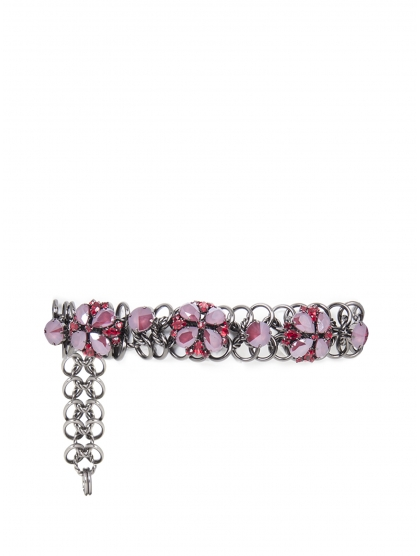CHAIN BELT CRYSTAL FLOWERS
