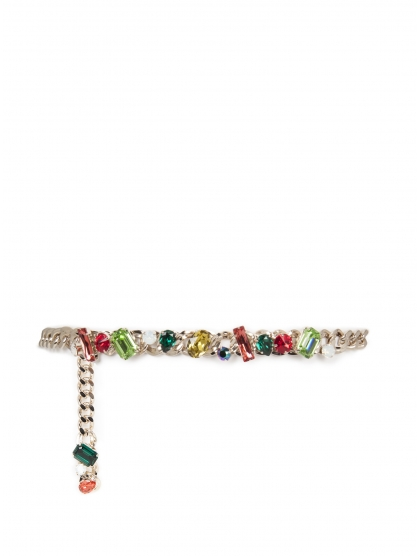 CHAIN BELT WITH CRYSTALS