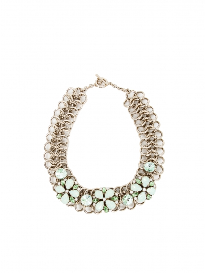 COLLAR CRYSTAL FLOR GOLD