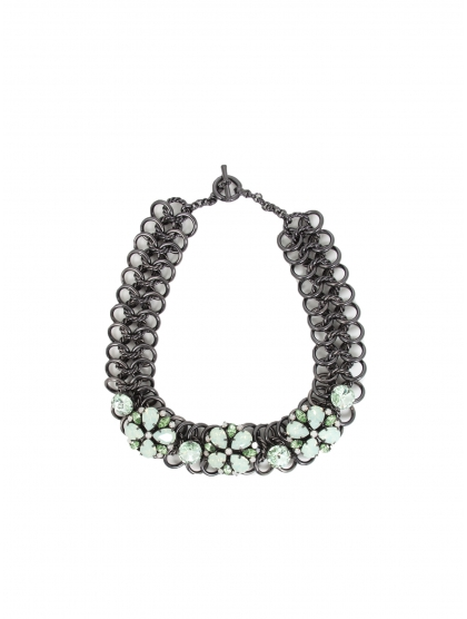 COLLAR CRYSTAL FLOR BLACK