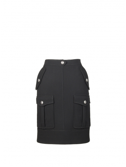 BLACK SAFARI SKIRT
