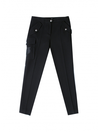SKINNY TROUSERS BLACK SAFARI