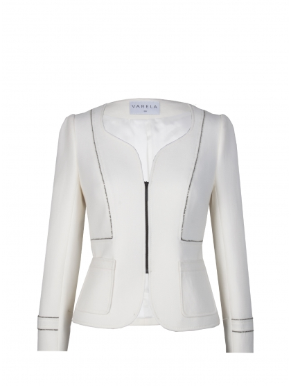 60 CREPE GALON SILVER JACKET