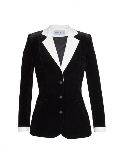 CHAQUETA SMOKING BLACK VELVET