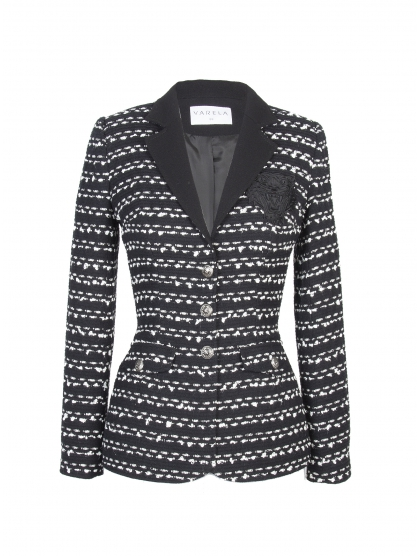CHAQUETA SASTRE TWEED BLACK TIGER