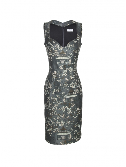 BUSTIER BROCADE DRESS