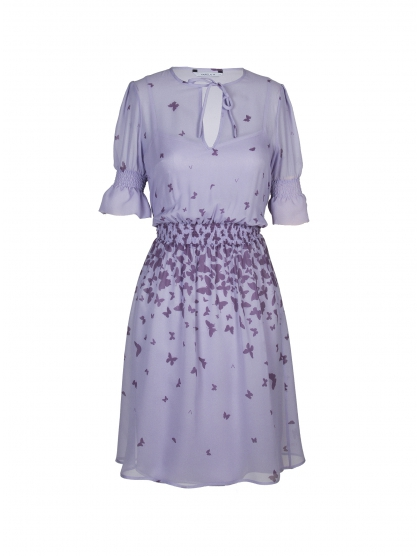 T-SHIRT DRESS GEORGETTE BUTTERFLIES