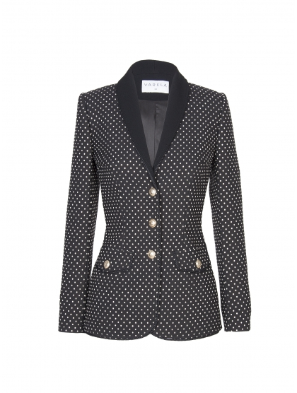 JACKET SMOKING MICRO DOTS
