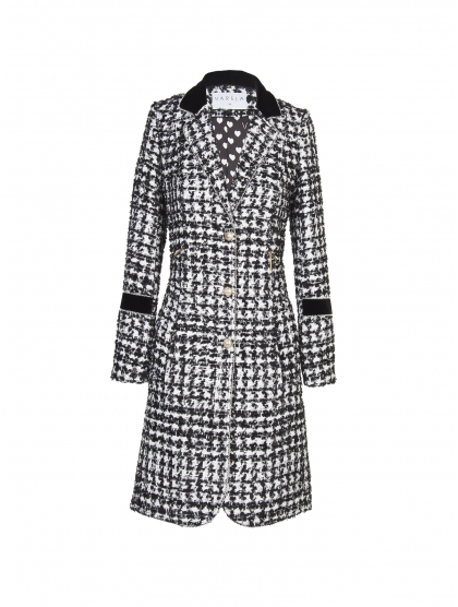 COAT 60 TWEED BLACK & WHITE